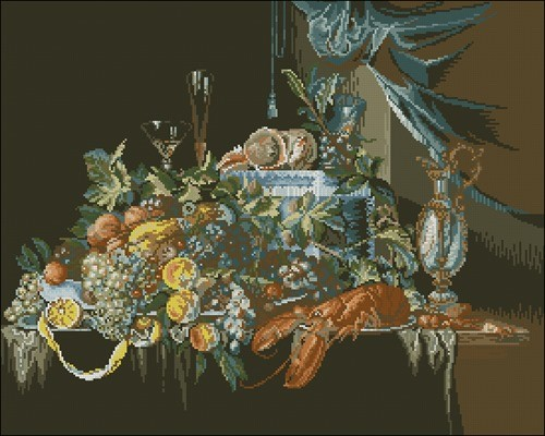 Sumptuous Still Life with Lobste