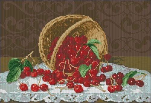 Побег вишни из корзины