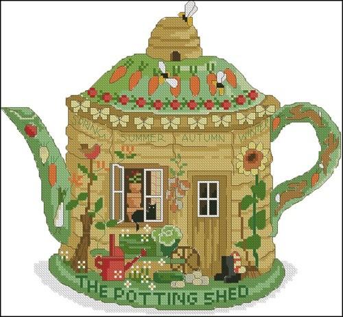 Чайник домик