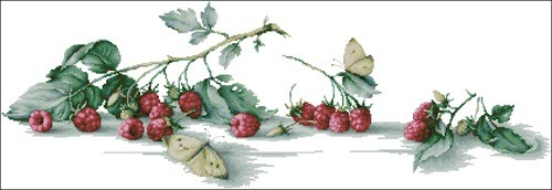 Малина с бабочкой