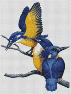 Три синие птички