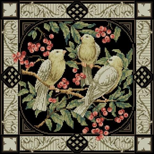 Подушка «Три птицы»