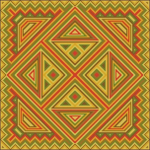 Геометрический орнамент для вышитой подушки