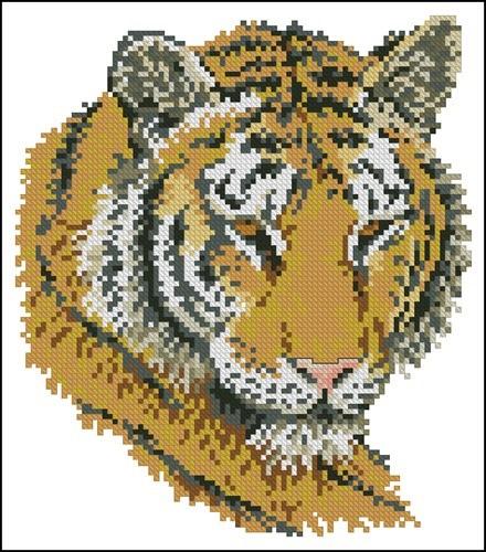 Подушка с тигром
