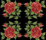 Подушка с красной розой