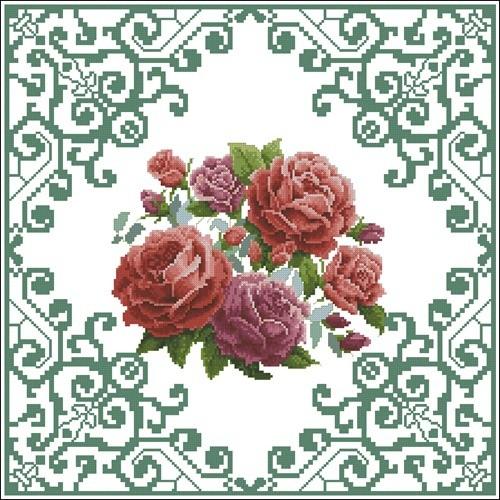 Rose cushion 3820