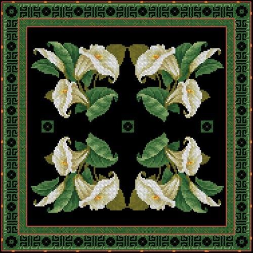 Красивая подушка с лилиями