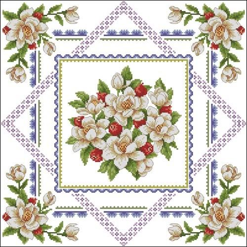 Салфетка с цветами