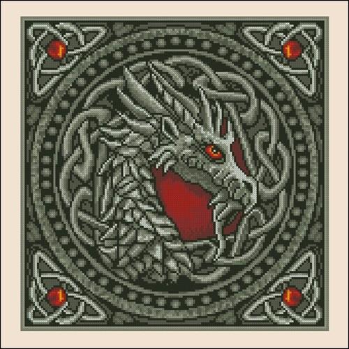 """Подушка """"Кельтский дракон"""""""