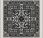 Оригинальный черный узор для подушки