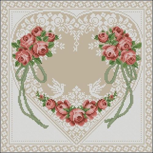 Свадебная метрика вышивка сердце