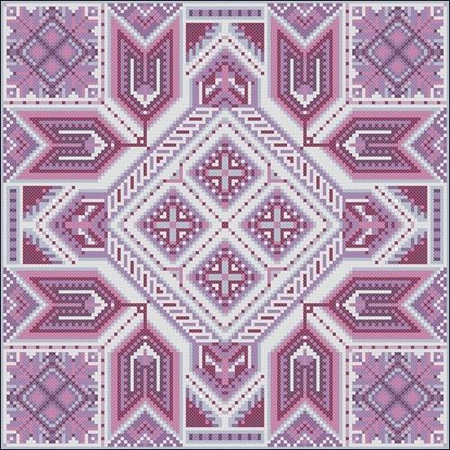 Геометрический узор для вышивки подушки