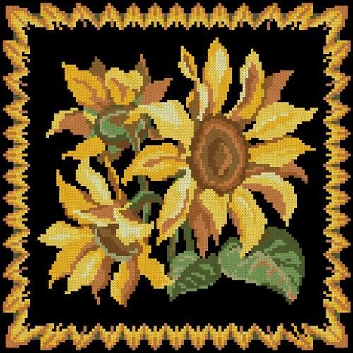 Pillow Sunflowers