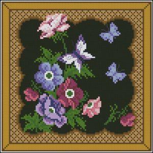 """Подушка """"Цветы и бабочки"""""""