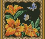"""Подушка """"Цветы и бабочки"""" 2"""