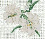 "Подушка ""Белые лилии"""