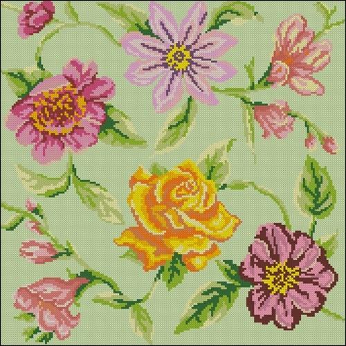 Подушка с разными цветами