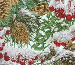 Frosty Woodland Pillow