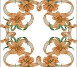 Узор с лилиями на скатерть