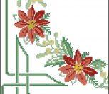 Уголок для салфетки с цветком