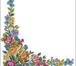 Цветочная рамка для скатерти