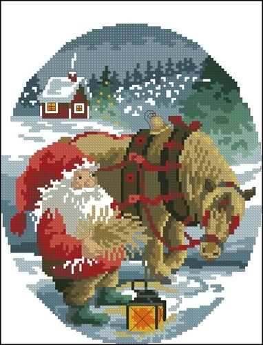 Санта с лошадкой