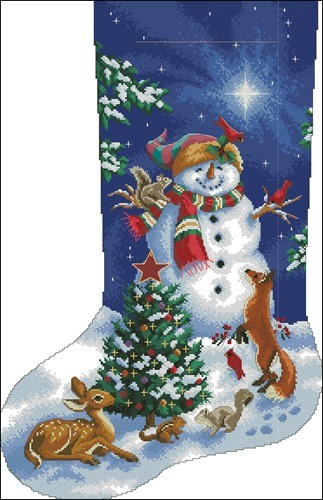 Glistening snowman stoc