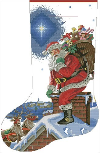 Rooftop Santa