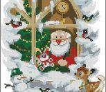 Дед Мороз в окошке