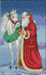 Дед Мороз и лошадь