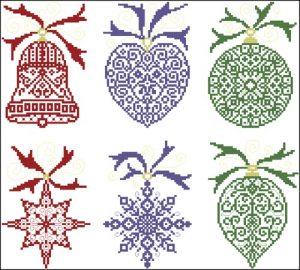 Мотивы новогодних украшений