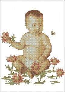 Малыш и цветочки