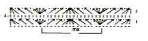 Ажурный узор крючком №2223 схема