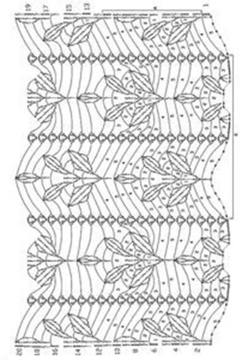 Ажурный узор крючком №2261 схема