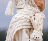 Башлык - шапка-шарф спицами
