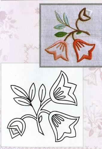 Цветочки-ягодки схема гладью 2