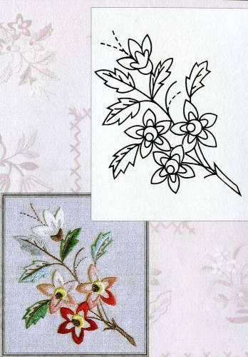 Цветочки-ягодки схема гладью 3