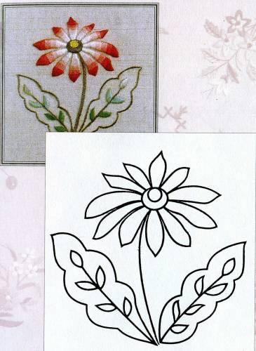 Цветочки-ягодки схема гладью 4