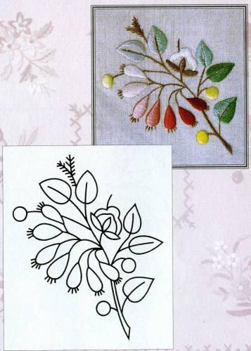 Цветочки-ягодки схема гладью 5