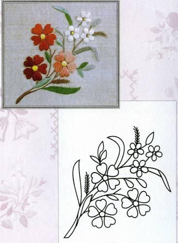 Цветочки-ягодки схема гладью