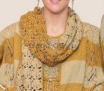 Двухцветный шарф крючком