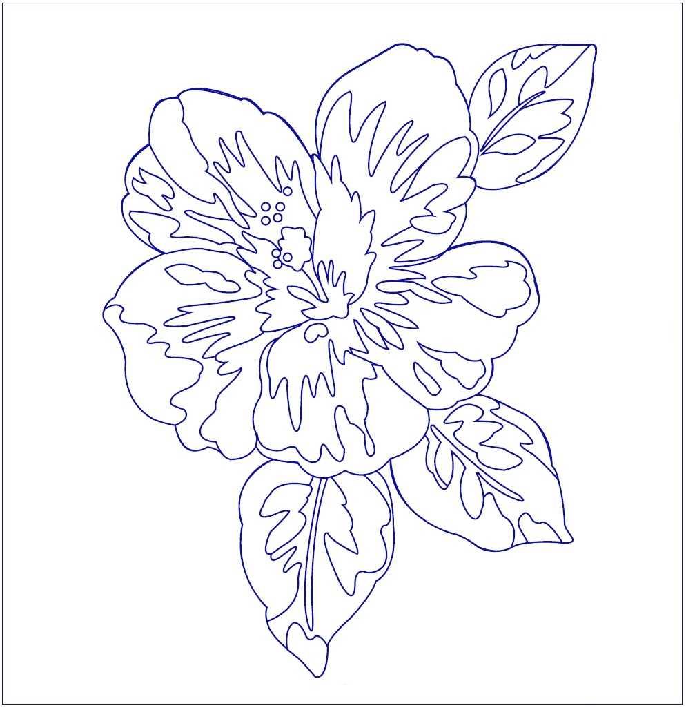 Гавайская роза вышивка гладью рисунок