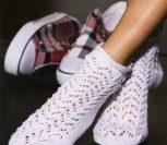 Короткие ажурные носки