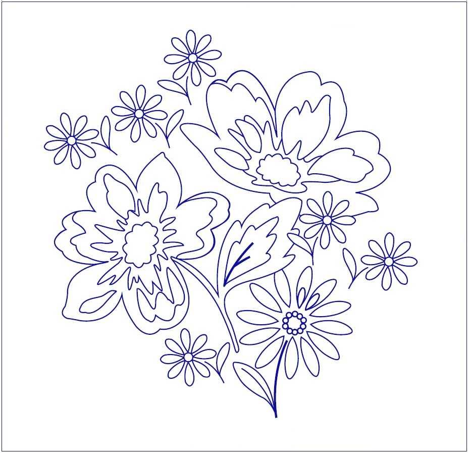 Летние цветы вышивка гладью рисунок