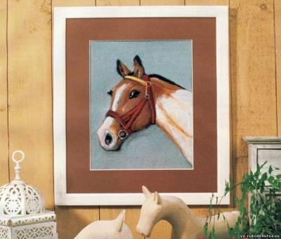 Лошадь вышивка гладью