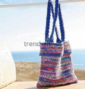 Меланжевая сумка крючком