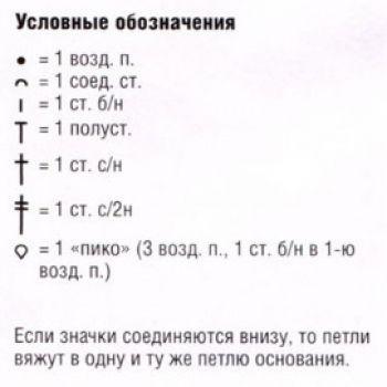 Мотив крючком №3004 ключ к схеме