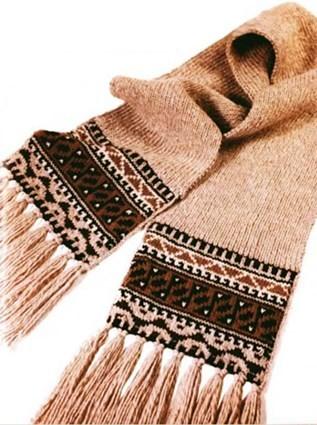 Мужской турецкий шарф с бахромой