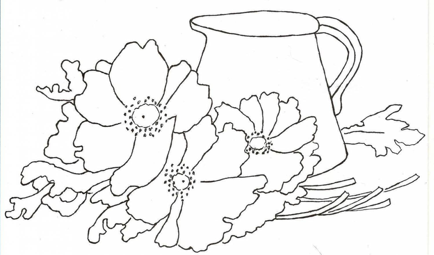 Натюрморт с цветами схема гладью вышивки
