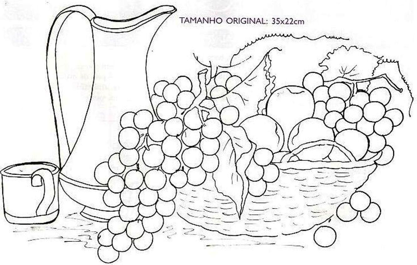 Натюрморт с виноградом схема вышивки гладью